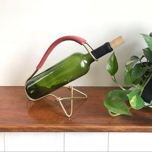 Mid Century Wine Bottle Caddy